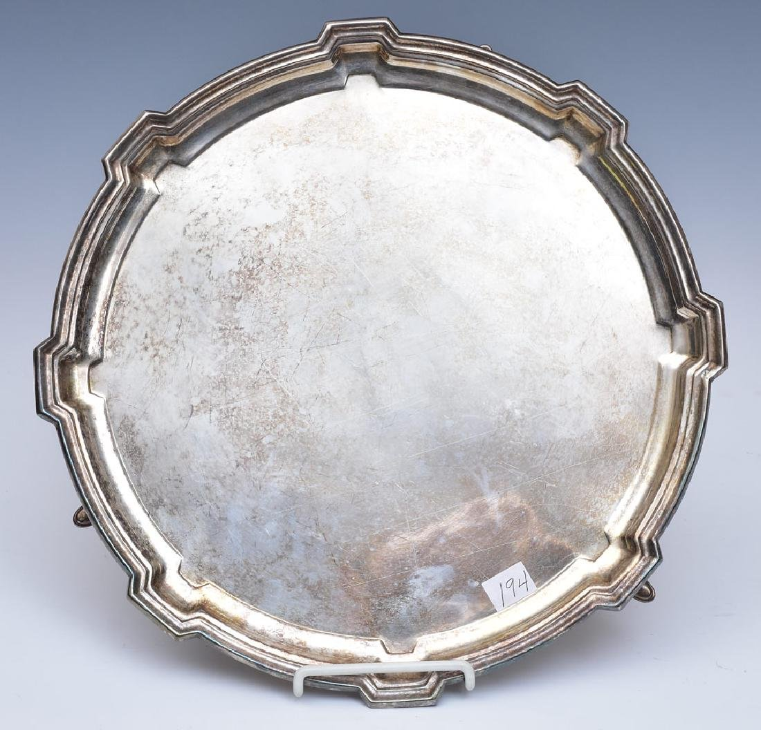 English Sterling Silver Salver