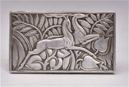 Evans Art Deco Sterling Silver Compact