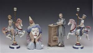 Group of Four Lladro Porcelain Figures