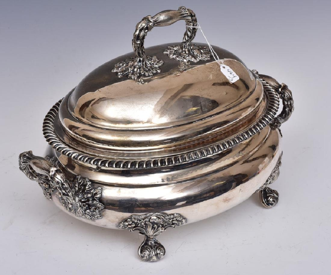 Egyptian Revival Silver Plated Coffee Urn