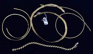 Three 14k Gold Necklaces