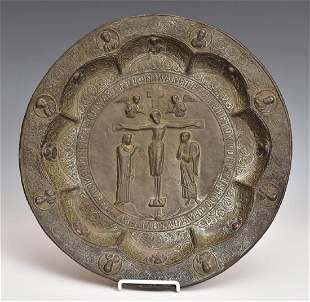 Russian Repousse Alms Dish