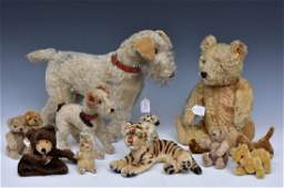 Group Of Stuffed Animals Including Steiff