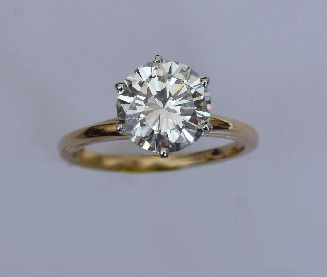 14k Gold Diamond Solitaire Ring