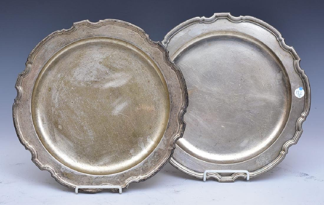 Pair Tiffany & Co Sterling Silver Trays