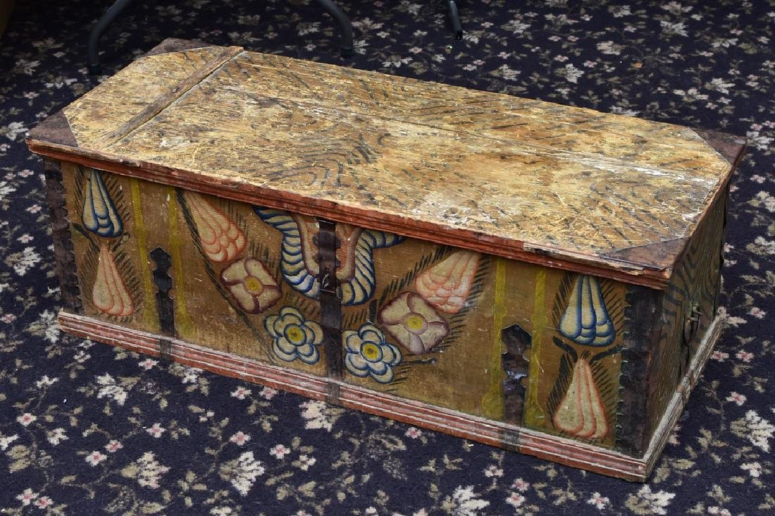 French Painted Blanket Chest