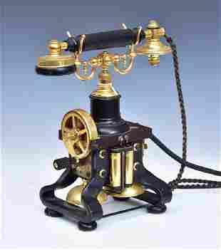 "Skeletal Iron ""Eiffel Tower"" Desk Telephone"