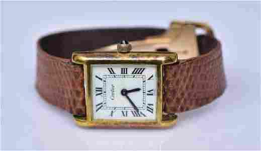 Cartier Ladies Tank Wrist Watch