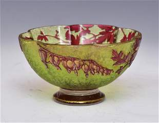 French Cameo Glass Bowl