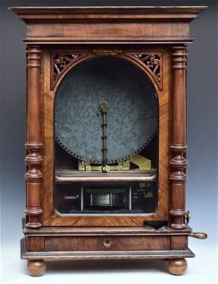 Polyphon Upright Disk Music Box