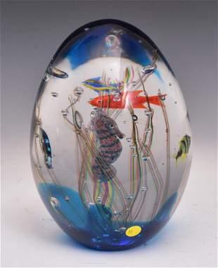 Elio Raffaeli Aquarium Glass Sculpture