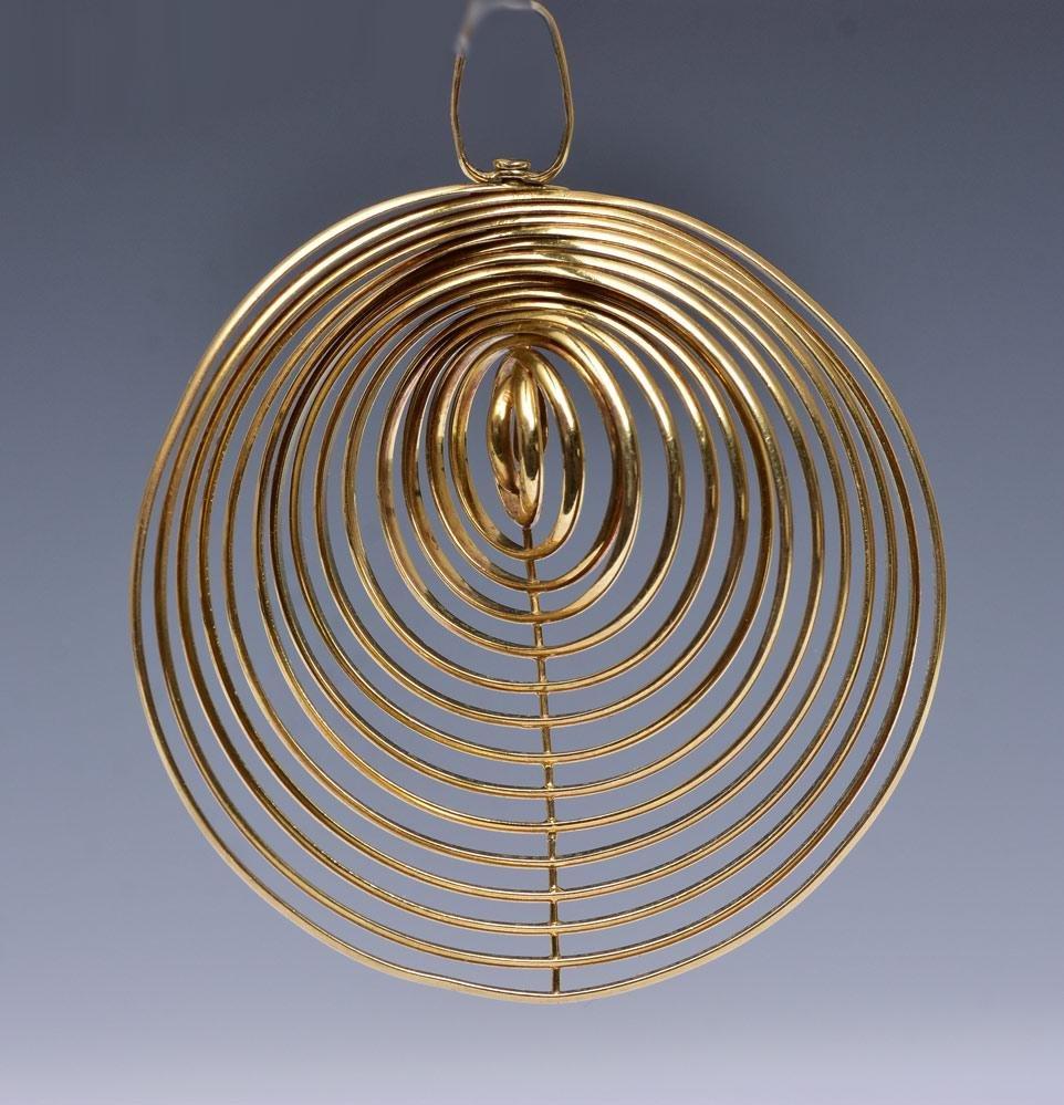 Tiffany & Co. 18k Gold Modernist Pendant