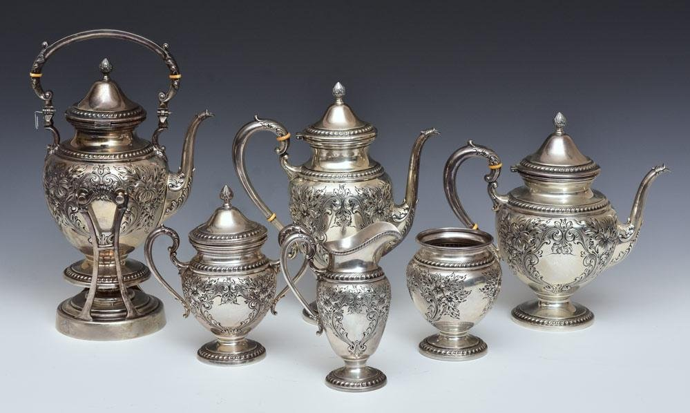 Whiting Sterling Silver Tea Set