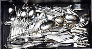 Alvin Partial Set Sterling Silver Flatware