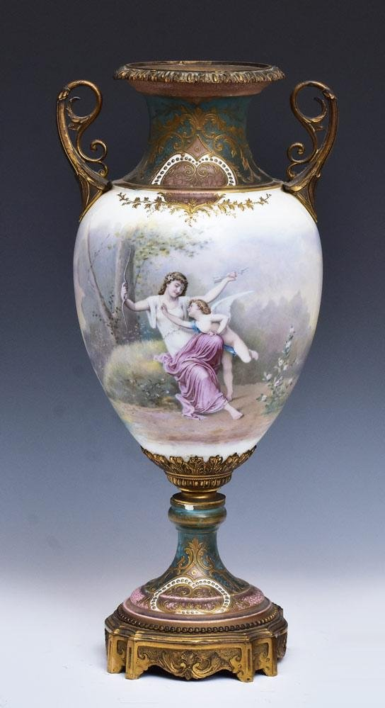 Sevres Bronze Mounted Urn