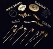 Collection of  Victorian Brooches and Stick Pins