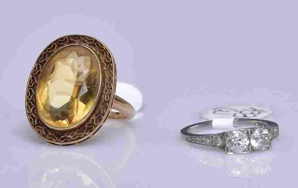 Victorian Platinum Diamond Ring