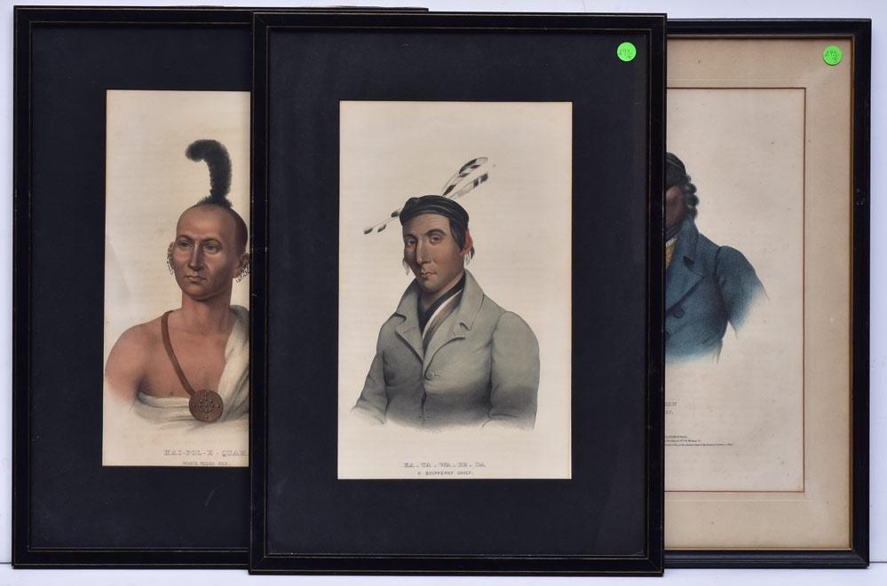 McKinney & Hall Native American Lithographs