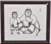 Inuit Stonecut Print