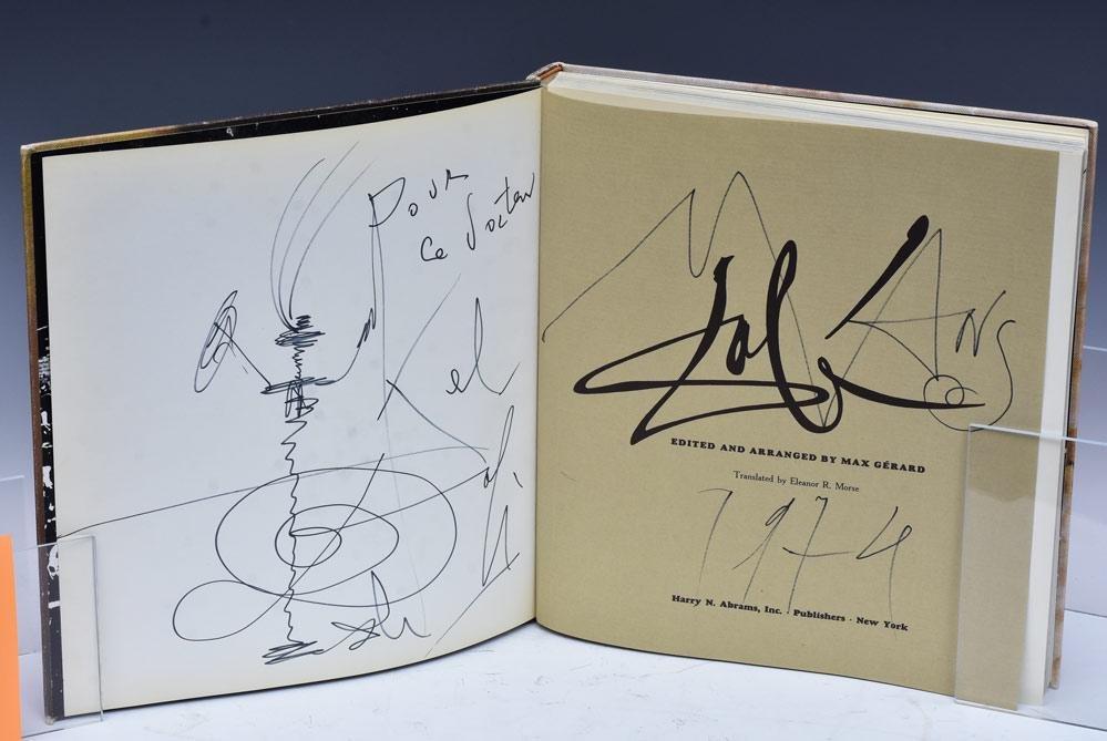 Salvador Dali Book with Dali Sketch