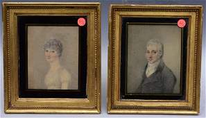 Pair of Federal Miniature Portraits