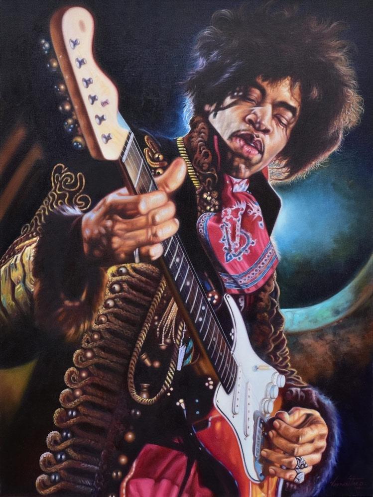 Large Jimi Hendrix Painting