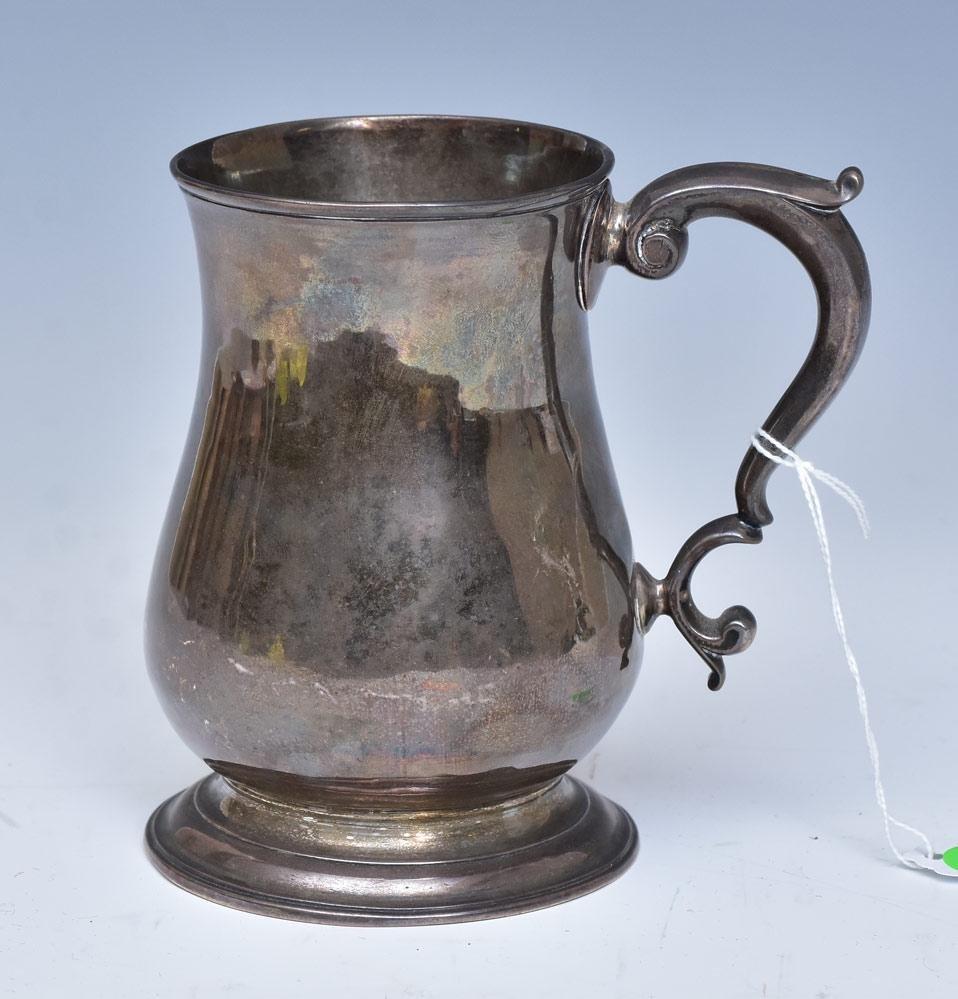 Queen Anne English Sterling Silver Tankard