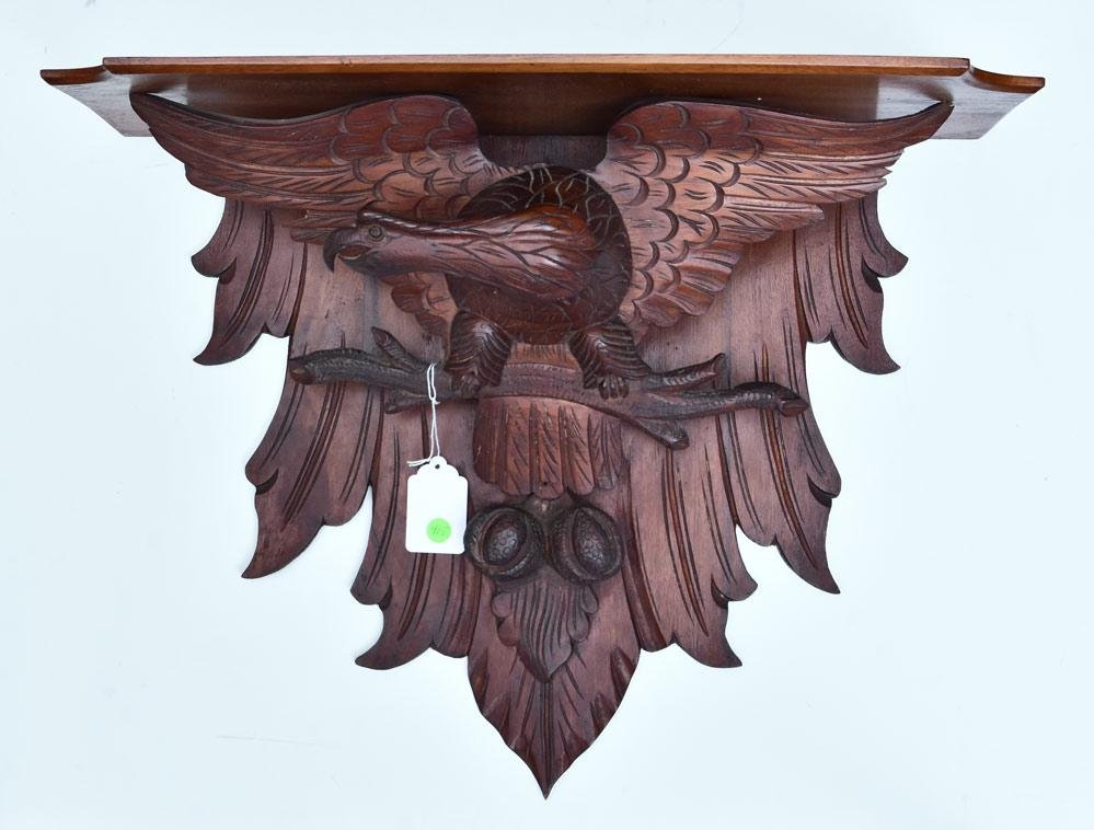 Victorian Carved Eagle Wall Bracket