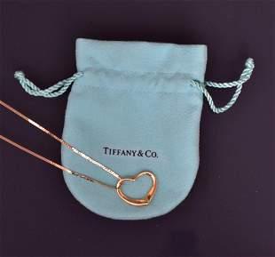 Elsa Peretti Tiffany & Co 18k Gold Heart Necklace
