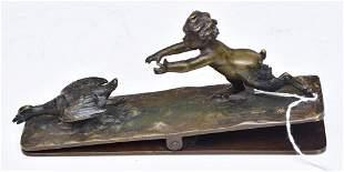 Victorian Bronze Desk Clip