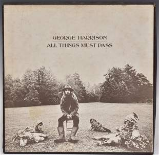 George Harrison- All Things Must Pass- AUTOGRAPHED