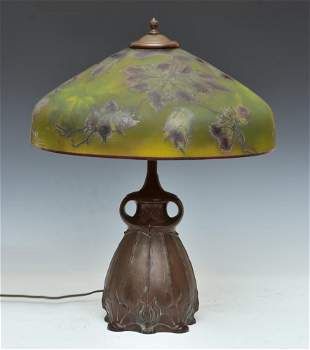 Pittsburgh Reverse Painted Parlor Lamp