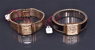 Two 14k Gold Longines Wrist Watches