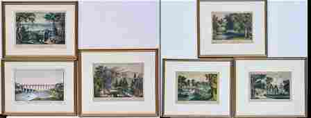 Group of Six Currier & Ives Lithographs