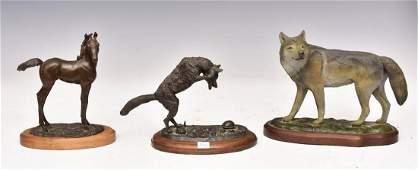 Group of Three Animal Bronzes