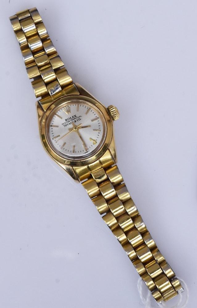 Rolex 18k Gold Ladies Wrist Watch