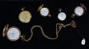 Five Victorian Gold Filled Watches
