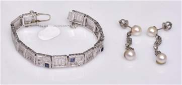 14k Gold Filigree Diamond Bracelet