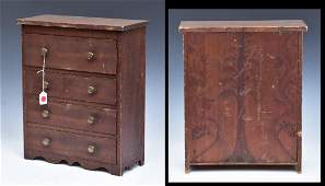 American Grain Painted Miniature Chest of Drawers
