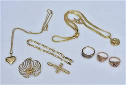 Group of 10k and 14k Gold Jewelry