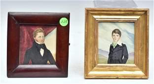Pair of Portrait Miniatures