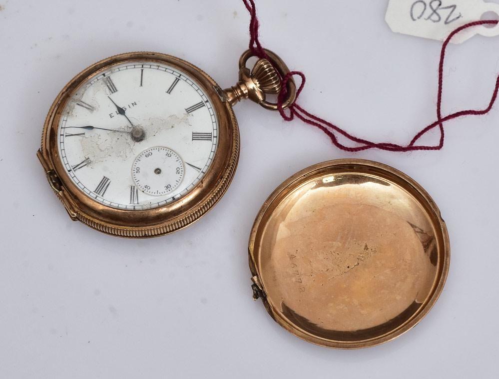 Elgin 14k Gold Ladies Pocket Watch