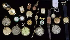 Collection of Gold Filled and Silver Watches