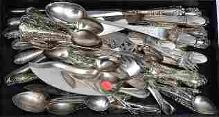 Sterling and 800 Silver Hollowware and Flatware