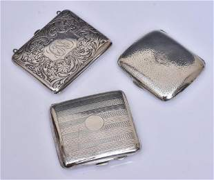 Three Sterling Silver Cases