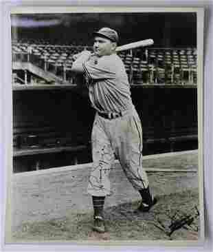 Early Johnny Mize Signed Photograph