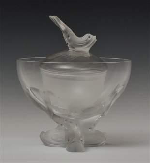 """Lalique Crystal """"Igor"""" Caviar Server"""