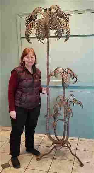 Italian Tole Palm Tree Floor Lamp