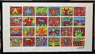 Keith Haring MOMA Poster