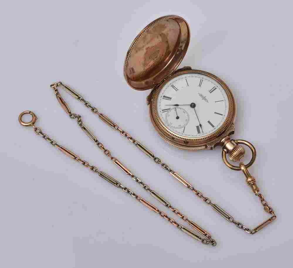 Elgin 14k Gold Ladies Pocket Watch